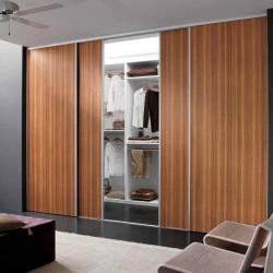 Встроенный шкаф-купе цвета Вишня